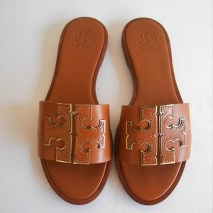 TORY BURCH 'Ines' Leather Slide Sandal